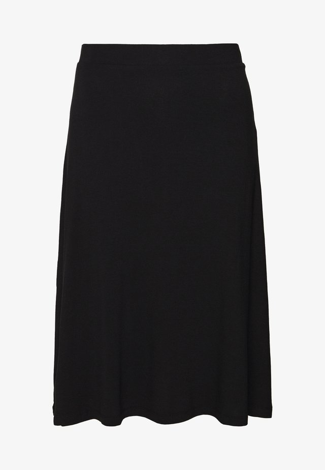 BASIC - Midi A-line skirt - A-lijn rok - black
