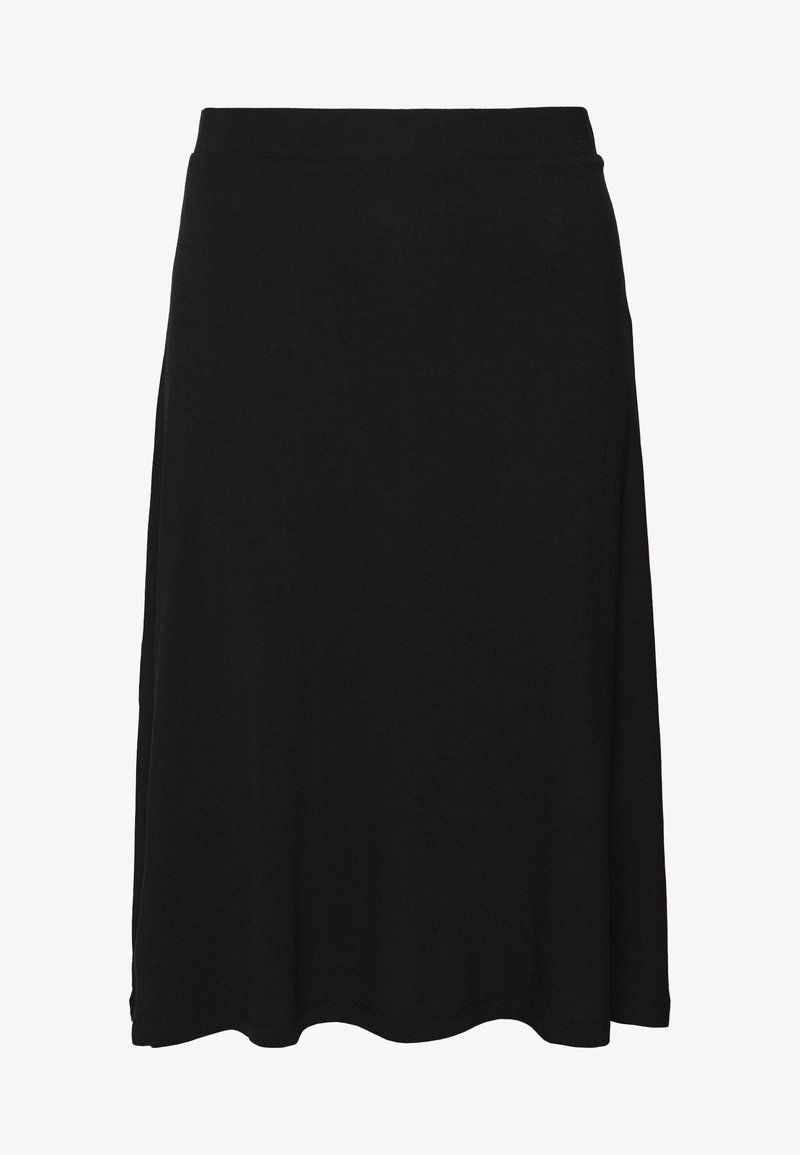 Even&Odd - BASIC - Midi A-line skirt - A-line skirt - black