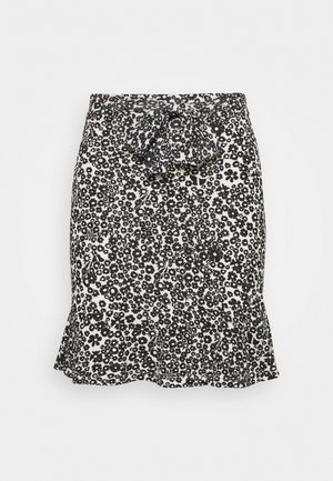 Mini skirt - white/black