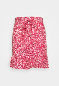 Even&Odd - Mini skirt - white/red - 0