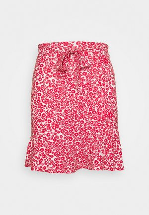 Mini skirt - white/red