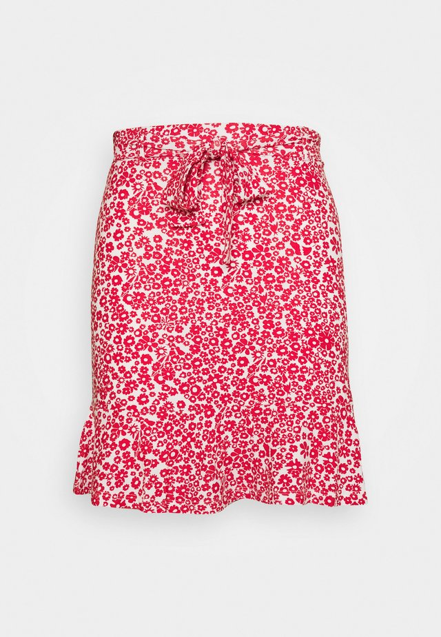 Mini skirts  - white/red