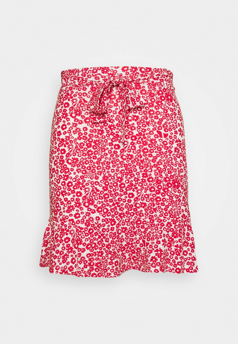 Even&Odd - Mini skirt - white/red