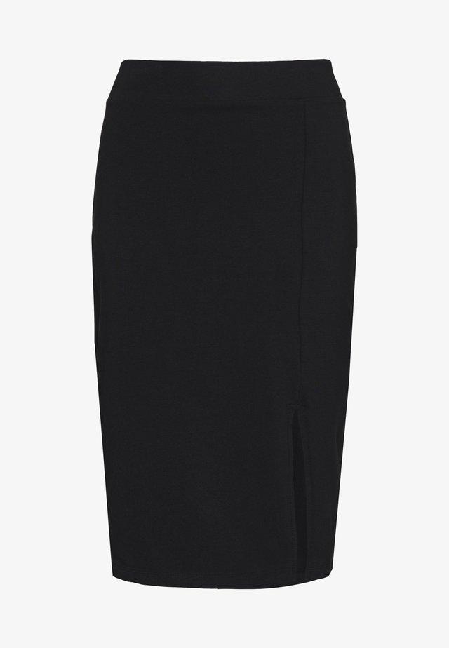 BASIC - Midi skirt with slit - Gonna a tubino - black