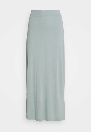 BASIC - MAXI SKIRT WITH SLIT - Jupe longue - abyss