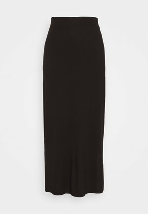 BASIC - MAXI SKIRT WITH SLIT - Maxikjol - black