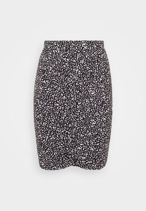 MINI RUSHING SKIRT  - Maxi skirt - white/black