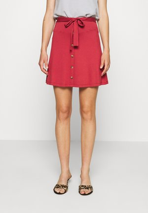 A-line skirt - brick red