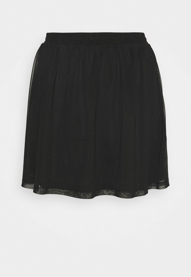 BASIC - MESH MINI SKIRT - Minijupe - black
