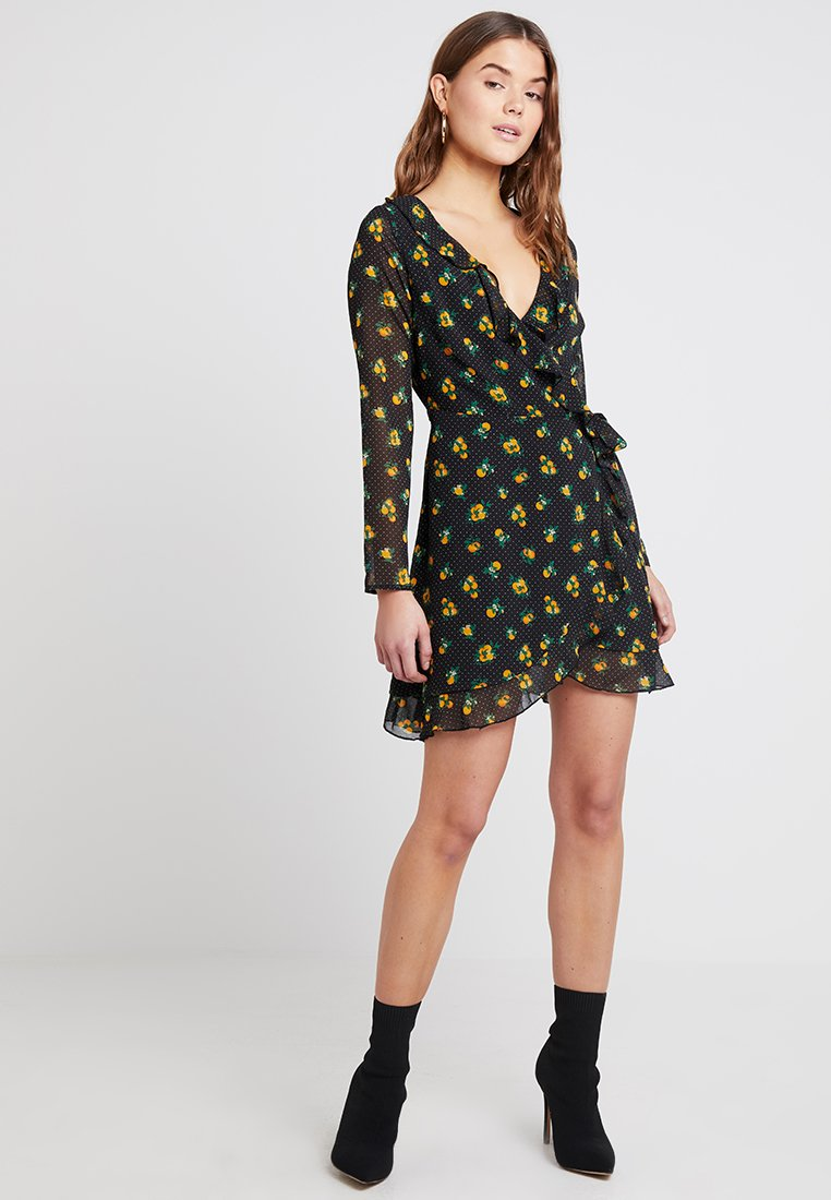 Even&Odd - Vestido informal - black/yellow