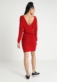 Even&Odd - Strikket kjole - red - 2