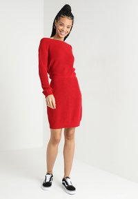 Even&Odd - Strikket kjole - red - 1