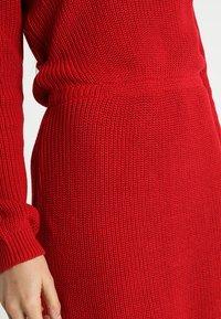 Even&Odd - Strikket kjole - red - 5