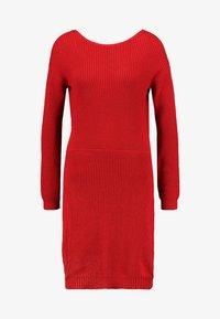 Even&Odd - Strikket kjole - red - 4