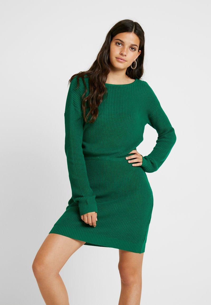 Even&Odd - Pletené šaty - green