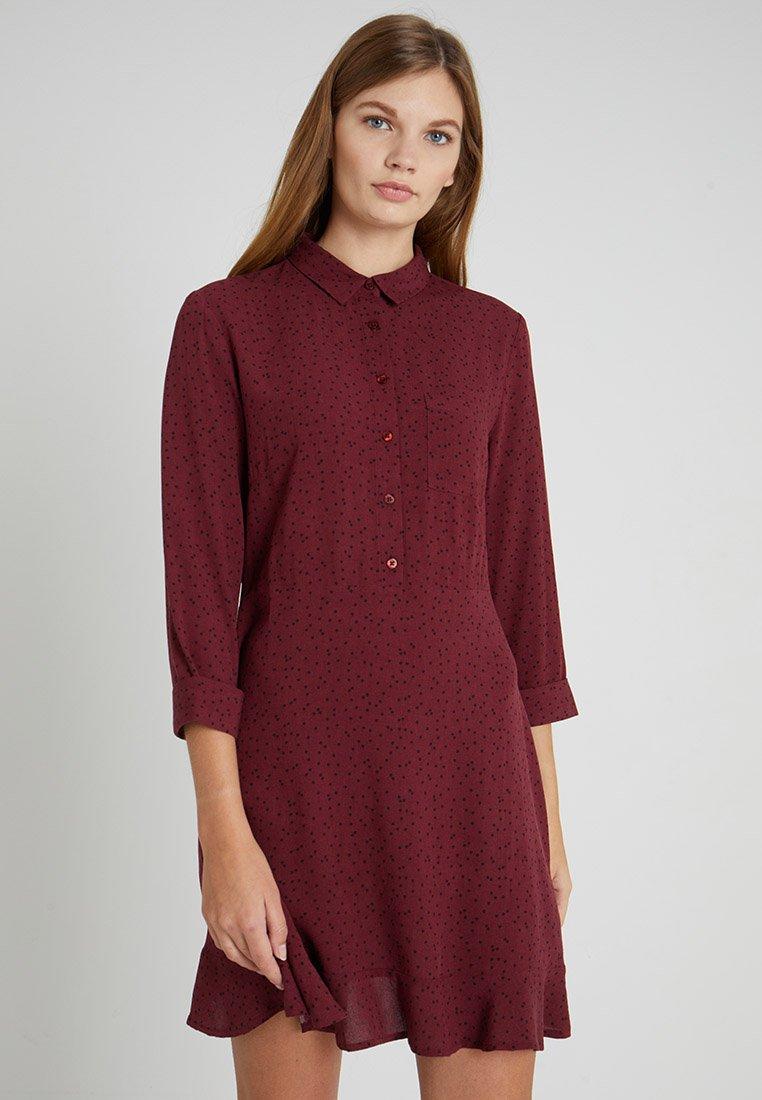 Even&Odd - Košilové šaty - red/black