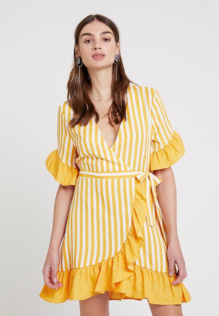 Even&Odd - Hverdagskjoler - yellow/white