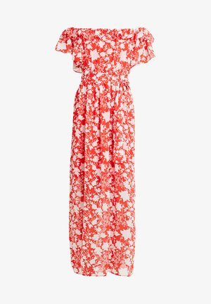 OFF THE SHOULDER  - Maxi dress - white/red