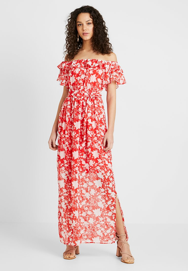 Even&Odd - OFF THE SHOULDER  - Maxi-jurk - white/red