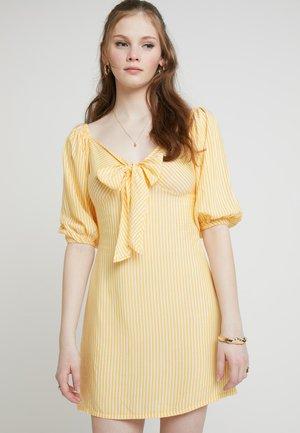 Kjole - off-white/mustard