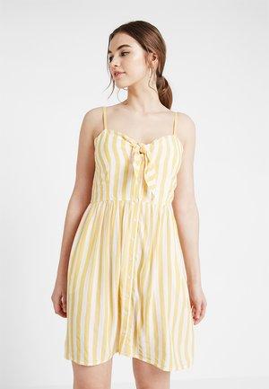 Robe chemise - white/yellow