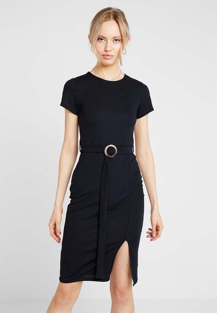 Even&Odd - Pouzdrové šaty - 802 - black
