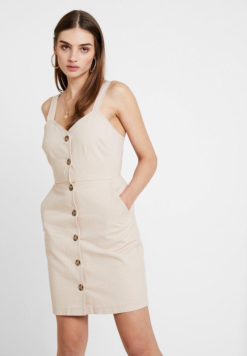 Even&Odd - Denimové šaty - stone