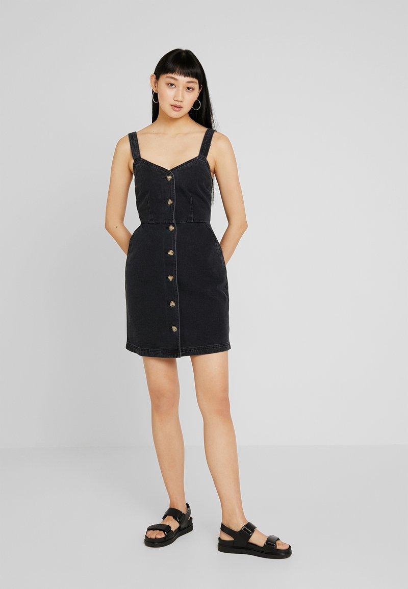 Even&Odd - Denimové šaty - black