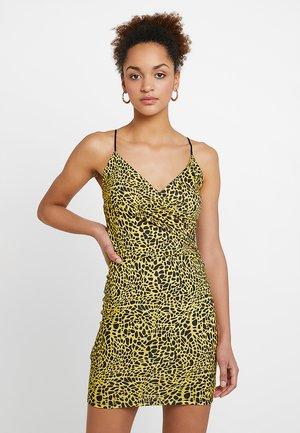 Žerzejové šaty - yellow