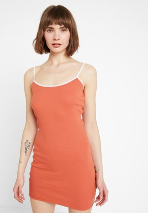 Shift dress - white/orange
