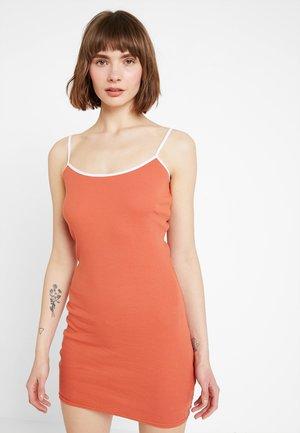 Pouzdrové šaty - white/orange