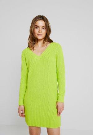 Pletené šaty - lime punch