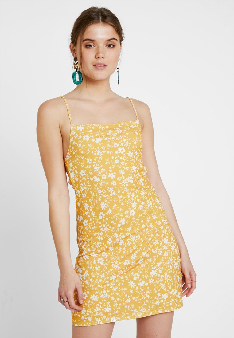 Even&Odd - Kjole - white/yellow