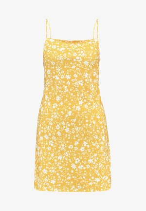 Vestido informal - white/yellow