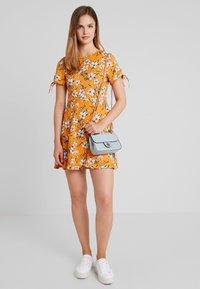 Even&Odd - Vestido informal - white/orange - 1