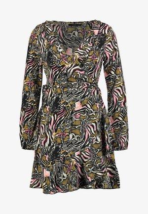 Denní šaty - white/pink/black