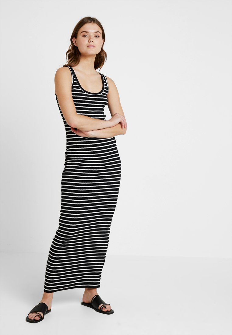 Even&Odd - Maxi dress - black/white