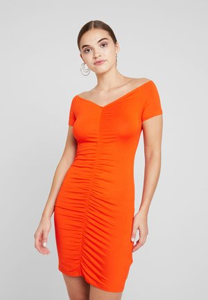 Vestido informal - mandarine red