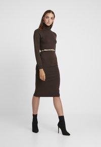 Even&Odd - Robe pull - brown - 2