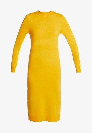 Pletené šaty - dark yellow
