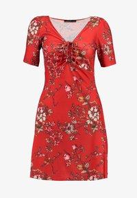 Even&Odd - Denní šaty - red floral aop - 4