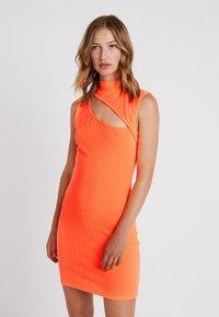 Even&Odd - Kjole - neon orange - 0