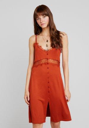 Korte jurk - ochre/rust