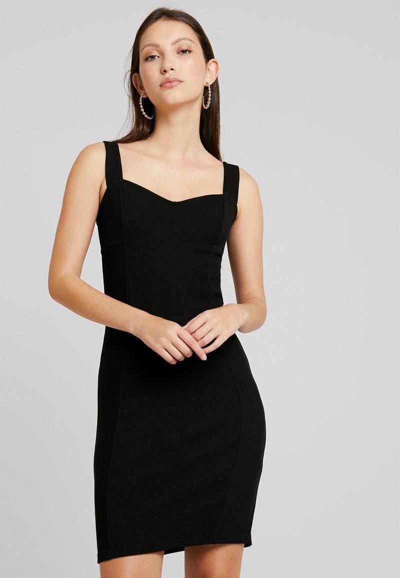 Even&Odd - BUSTIER DRESS BODYCON  - Vestido informal - black