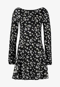 Even&Odd - Robe d'été - black/white - 5