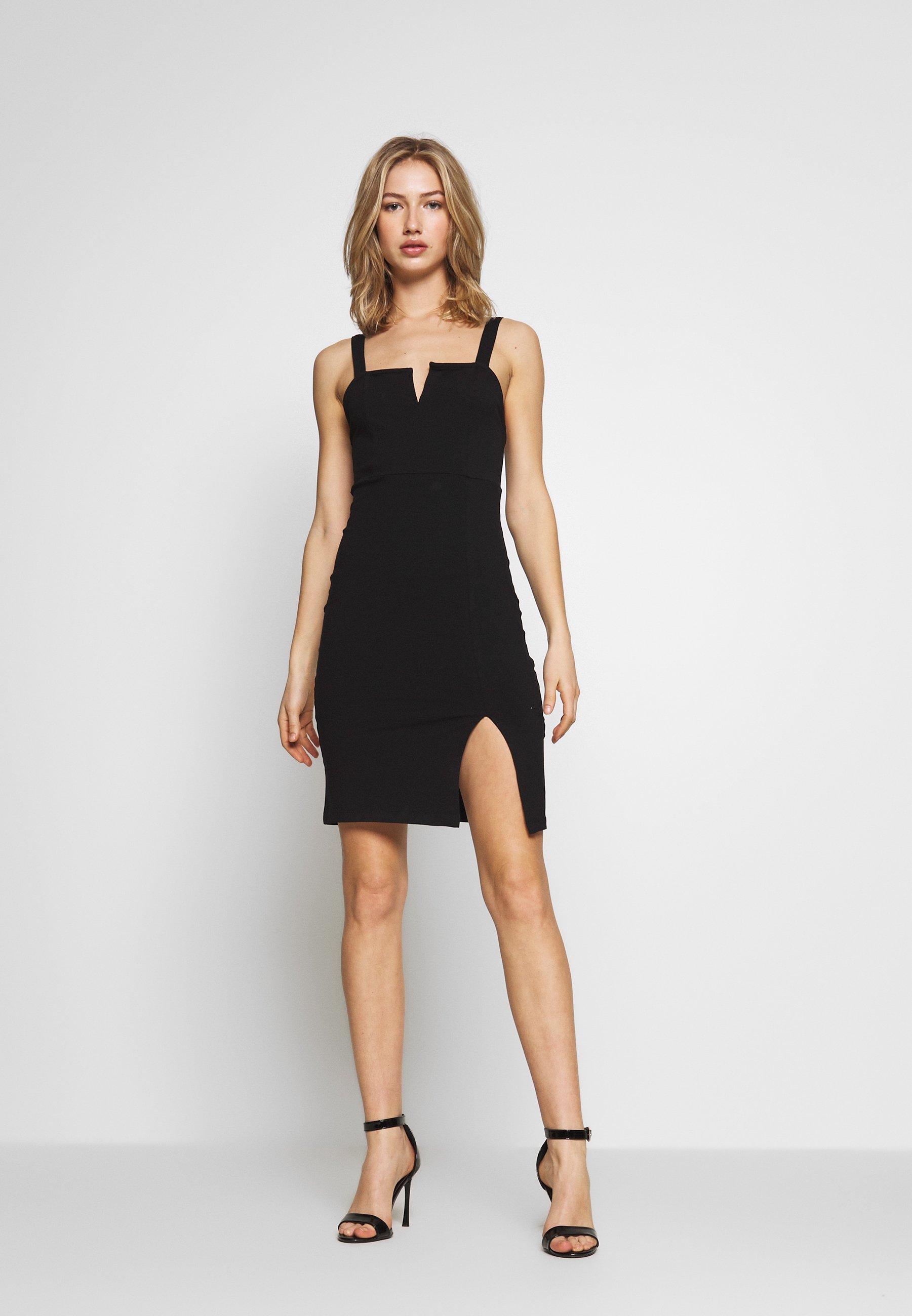 Even&Odd BASIC - Sukienka etui - black