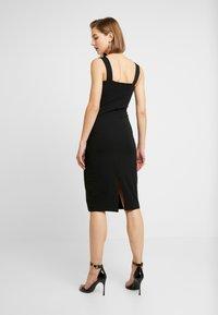Even&Odd - ETUIKLEID BASIC - Pouzdrové šaty - black - 3