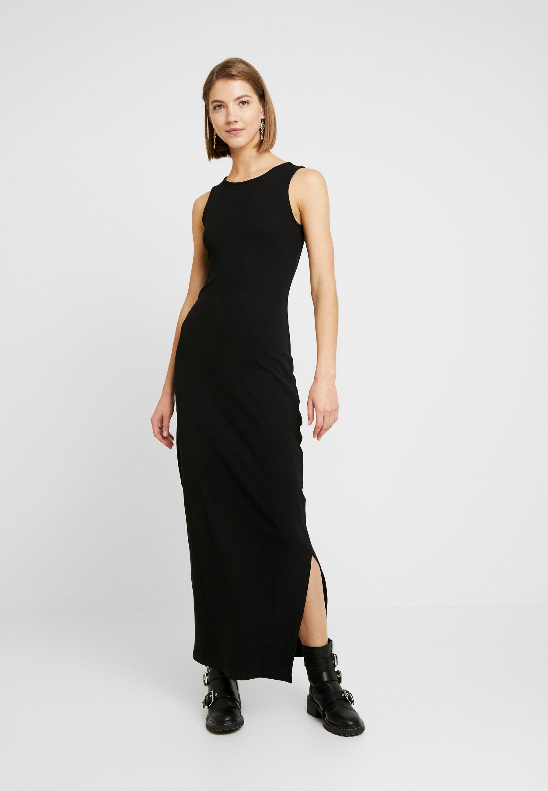 Even&Odd MAXIKLEID BASIC - Długa sukienka - black