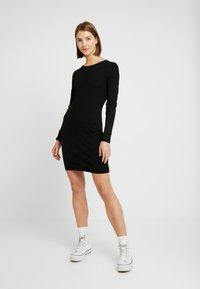 Even&Odd - JERSEYKLEID BASIC - Shift dress - black - 1
