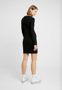 Even&Odd - JERSEYKLEID BASIC - Shift dress - black - 2
